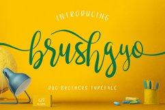 brushgyo typeface Product Image 1