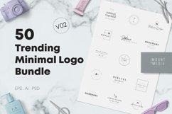 50 Trending Minimal Logo Bundle V02 Product Image 1