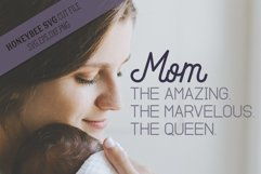 Mom the Amazing Marvelous Queen SVG Cut File Product Image 1