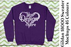 Gildan Sweatshirt Mockup 18000 Mock Up Black White Grey 949 Product Image 3