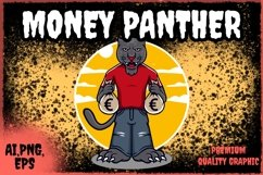 panther character design with money Product Image 1
