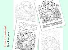 Saint Bernard coloring page Product Image 2