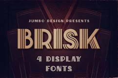 Brisk - ArtDeco Display Font Product Image 1