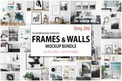 Scandinavian Interior Frames & Walls Mockup Bundle Product Image 1