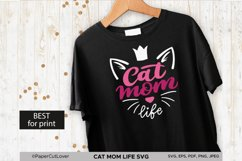 Cat Mom Life SVG, Mama SVG Cat with crown SVG Cat Lover Svg Product Image 4