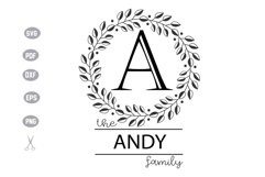 Family Monogram Template SVG Design Product Image 1