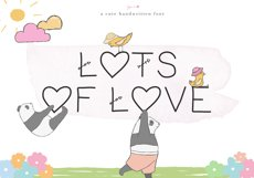 Lots of Love - A Cute Handwritten Font Product Image 1