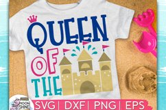 Queen Of The Sand Castle SVG DXF PNG EPS Cutting Files Product Image 1