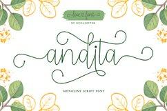 Andita - Monoline Script Product Image 1