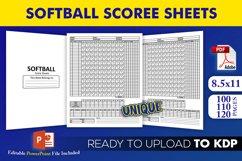 Softball Score Sheets Book | KDP Interior Template Editable Product Image 1
