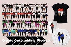 Afro lady Clip art, Big sis bundle, black girl, Afro clipart Product Image 3