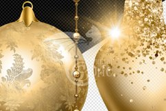 Gold Christmas Ornament Clipart Product Image 2