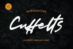 Cuffelts - Script Display Font Product Image 1