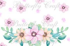 Flowers Digital Paper, Floral scrapbooking paper Product Image 3