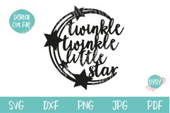 Twinkle Twinkle SVG   Cake Topper SVG Product Image 2