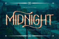 Midnight | Classic Vintage Font Product Image 1