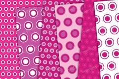 Pink circles and dots seamless digital paper Product Image 2