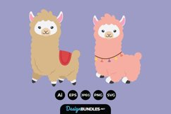 Fun Llama Illustrations Product Image 1