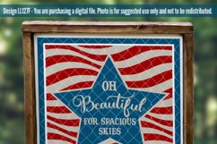 Oh Beautiful For Spacious Skies Patriotic SVG DXF LL127F Product Image 2