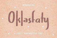 Web Font Oklasfaty - Simple Handwritten Font Product Image 1