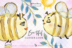 Honey Bumble Bee Glam Clipart PNG   DrawBerry CP007 Product Image 4