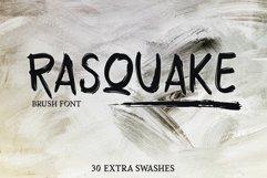 RASQUAKE brush font EXTRA swashes Product Image 1