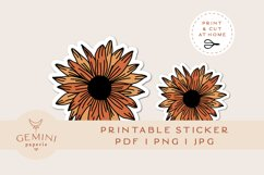 Printable Sticker | Sunflower Sticker for Cricut Product Image 1