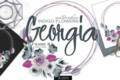 Georgia. Indigo frame #1. Product Image 1