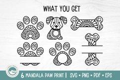 Paw Print Mandala SVG Cut Files Product Image 2