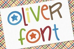 Oliver Embroidery Font 1362 Product Image 1