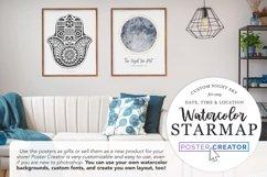 Watercolor StarMap Poster Creator Product Image 3