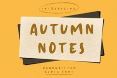 Autumn Notes Product Image 1