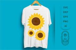 Sunflower SVG & Sunflower Monogram Frame SVG Cut Files Product Image 6