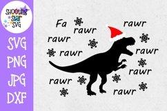 Fa Rawr Rawr Christmas Dinosaur - Christmas SVG Product Image 1