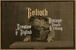Goliath - Display Font Product Image 4