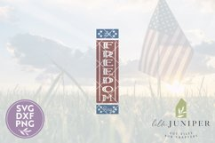 Let Freedom Ring SVG, Front Porch Sign SVG, 4th of July SVG Product Image 2