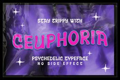Ceuphoria - Psychedelic Font Product Image 1