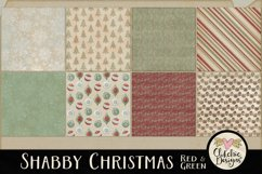 Christmas Scrapbook Papers - Shabby Christmas Backgrounds Product Image 3