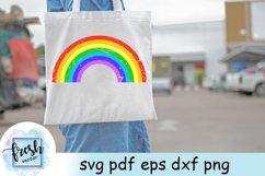 Rainbow Svg Distressed Rainbow Grunge Svg Product Image 3