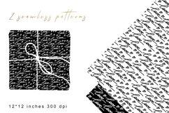 Love Black White Digital Paper. Valentines Digital Paper. Product Image 1