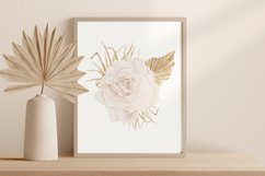 Boho rose printable, Watercolor rose wall print Product Image 2