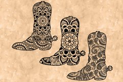 Cowboy Boot Mandala SVG, Country Western, Mandala Clipart. Product Image 1