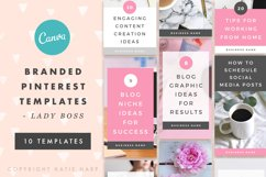 Pinterest Canva Templates - Lady Boss Product Image 1
