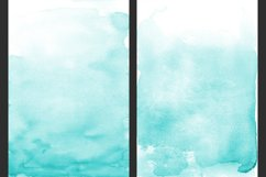 Teal Ombre Watercolor Backgrounds Product Image 4