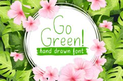 Go Green - handdrawn font Product Image 1