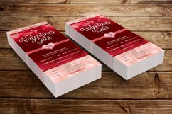 Red Hearts Valentines Gala Ticket Template Product Image 6