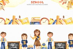 SCHOOL. Watercolor collection. Clipart, cards, patterns Product Image 8