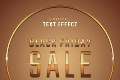 5 Black Friday Text Effect Silver Gold Illustrator Product Image 5