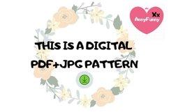 Mini bottle cross stitch pattern PDF, Mason jar Xstitch fox Product Image 2