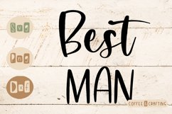 Best man Wedding SVG cut file Product Image 1